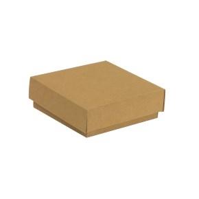 Darčeková krabička s vekom 150x150x50/40 mm, hnedá - kraft
