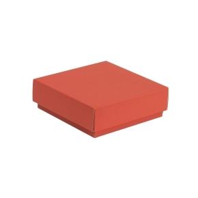 Darčeková krabička s vekom 150x150x50/40 mm, koralová