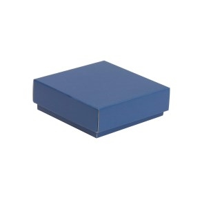 Darčeková krabička s vekom 150x150x50/40 mm, modrá