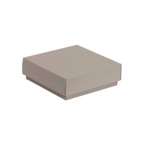 Darčeková krabička s vekom 150x150x50/40 mm, sivá