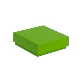 Darčeková krabička s vekom 150x150x50/40 mm, zelená