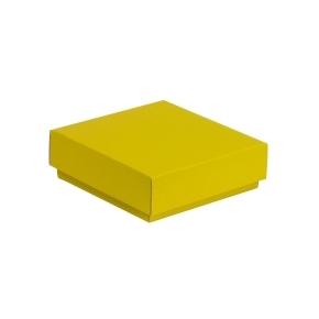 Darčeková krabička s vekom 150x150x50/40 mm, žltá
