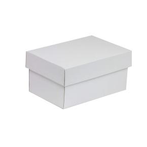 Darčeková krabička s vekom 200x125x100 mm, biela