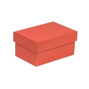 Darčeková krabička s vekom 200x125x100 mm, koralová