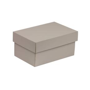 Darčeková krabička s vekom 200x125x100 mm, sivá
