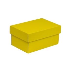 Darčeková krabička s vekom 200x125x100 mm, žltá