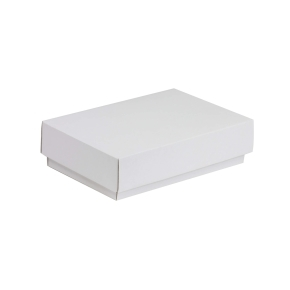 Darčeková krabička s vekom 200x125x50 mm, biela