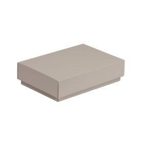Darčeková krabička s vekom 200x125x50 mm, sivá