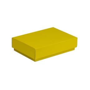 Darčeková krabička s vekom 200x125x50 mm, žltá