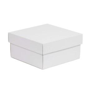 Darčeková krabička s vekom 200x200x100/40 mm, biela