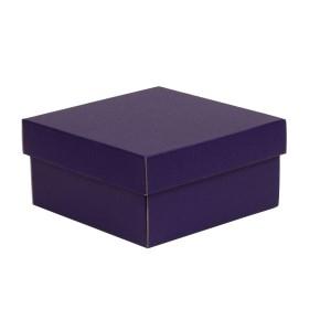 Darčeková krabička s vekom 200x200x100/40 mm, fialová