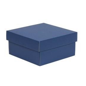 Darčeková krabička s vekom 200x200x100/40 mm, modrá