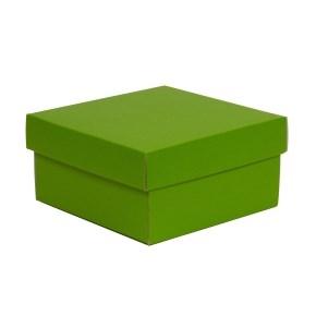 Darčeková krabička s vekom 200x200x100/40 mm, zelená