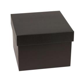Darčeková krabička s vekom 200x200x150 mm, čierna