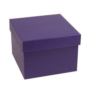 Darčeková krabička s vekom 200x200x150 mm, fialová