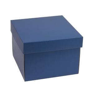 Darčeková krabička s vekom 200x200x150 mm, modrá