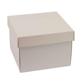 Darčeková krabička s vekom 200x200x150 mm, sivá