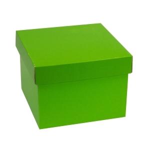 Darčeková krabička s vekom 200x200x150 mm, zelená