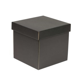 Darčeková krabička s vekom 200x200x200 mm, čierna