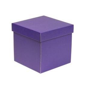 Darčeková krabička s vekom 200x200x200 mm, fialová