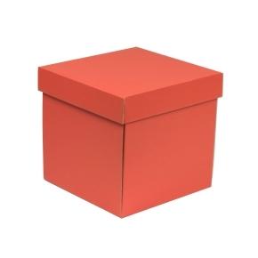 Darčeková krabička s vekom 200x200x200 mm, koralová