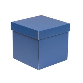 Darčeková krabička s vekom 200x200x200 mm, modrá