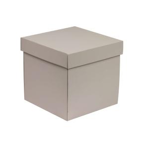 Darčeková krabička s vekom 200x200x200 mm, sivá