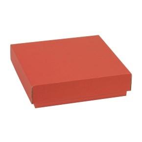Darčeková krabička s vekom 200x200x50 mm, koralová