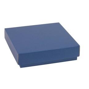 Darčeková krabička s vekom 200x200x50 mm, modrá