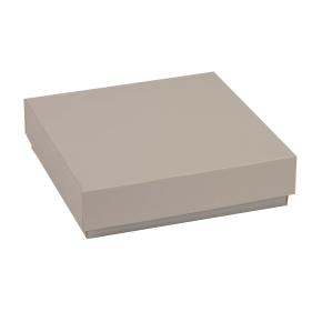 Darčeková krabička s vekom 200x200x50 mm, sivá