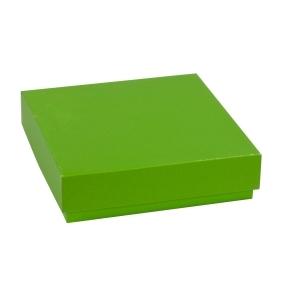 Darčeková krabička s vekom 200x200x50 mm, zelená