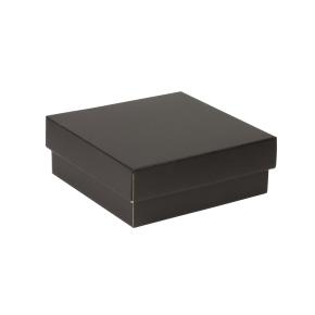 Darčeková krabička s vekom 200x200x70 mm, čierna