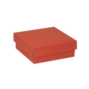Darčeková krabička s vekom 200x200x70 mm, koralová