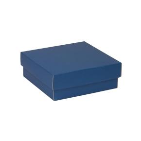 Darčeková krabička s vekom 200x200x70 mm, modrá