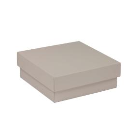 Darčeková krabička s vekom 200x200x70 mm, sivá