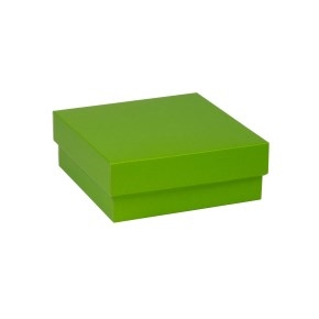 Darčeková krabička s vekom 200x200x70 mm, zelená