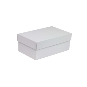 Darčeková krabička s vekom 250x150x100 mm, biela