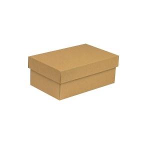 Darčeková krabička s vekom 250x150x100 mm, hnedá - kraft