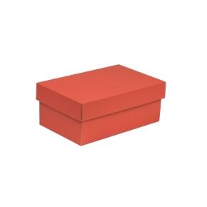 Darčeková krabička s vekom 250x150x100 mm, koralová