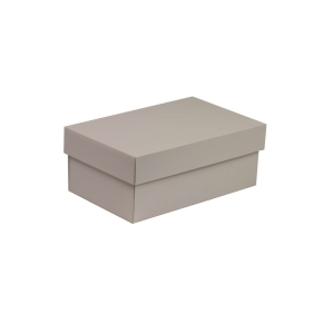 Darčeková krabička s vekom 250x150x100 mm, sivá