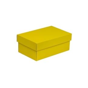 Darčeková krabička s vekom 250x150x100 mm, žltá
