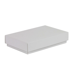 Darčeková krabička s vekom 250x150x50/40 mm, biela
