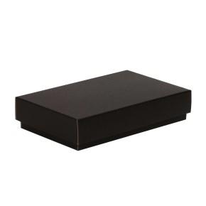 Darčeková krabička s vekom 250x150x50/40 mm, čierna