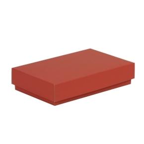 Darčeková krabička s vekom 250x150x50/40 mm, koralová