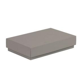 Darčeková krabička s vekom 250x150x50/40 mm, sivá