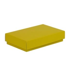 Darčeková krabička s vekom 250x150x50/40 mm, žltá