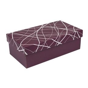 Darčeková krabička s vekom 250x170x110/35 mm, vínová so vzorom na veku