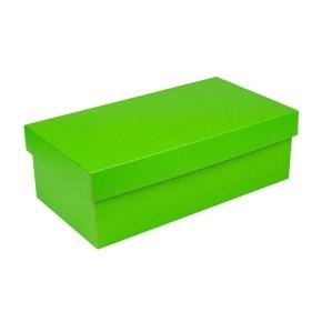 Darčeková krabička s vekom 250x170x110/35 mm, zelená matná