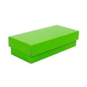 Darčeková krabička s vekom 280x130x80/35 mm, zelená matná