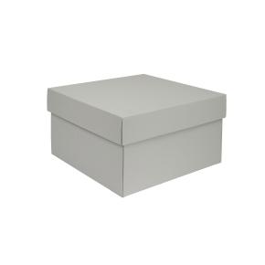 Darčeková krabička s vekom 300x300x200/50 mm, šedá matná